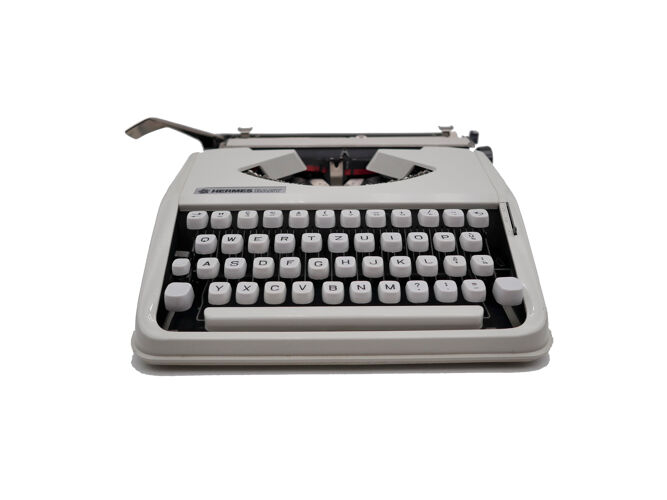 Machine à écrire hermes baby Blanche qwertz révisée ruban neuf