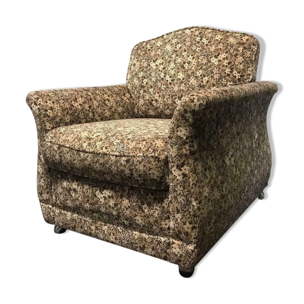 Fauteuil floral vintage siège simple siège