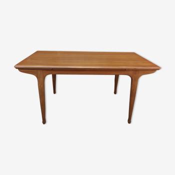 """Table de salle à manger à rallonge en teck par maison """"meuble tv"""" France 1960"""