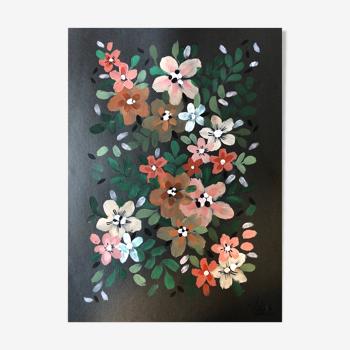Peinture a4 fleurs de printemps