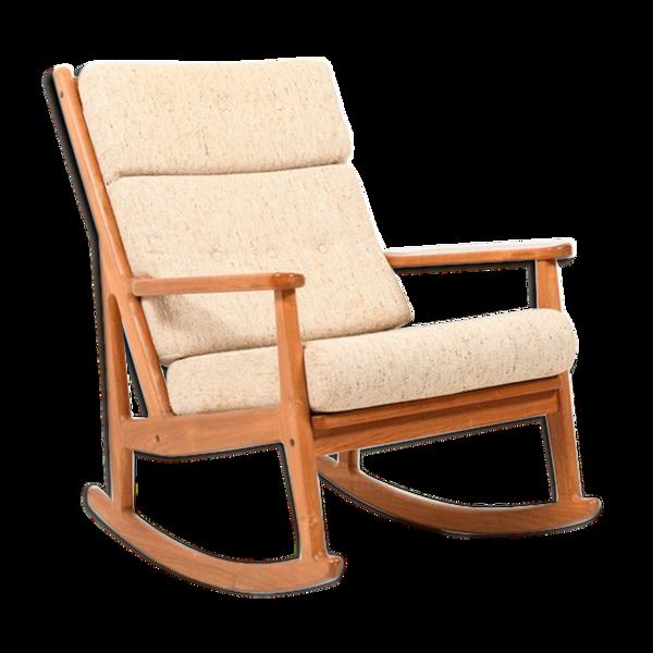 Rocking Chair en teck danois