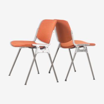 Paire de chaises Dsc 106 par Giancarlo Piretti pour Castelli