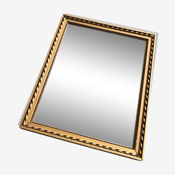 Miroir biseauté doré 27x34cm