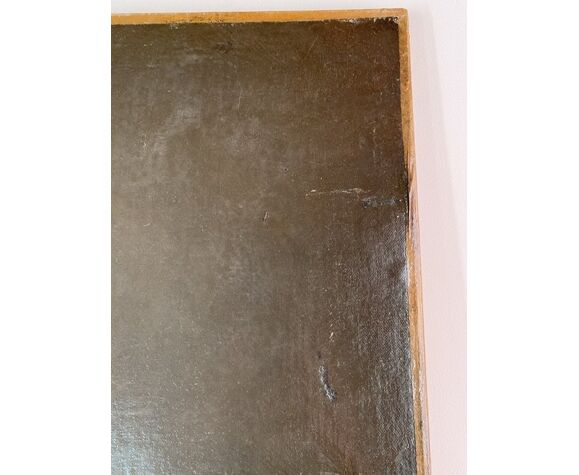 Tableau ancien portrait d'homme signé A Delmére et daté 1845