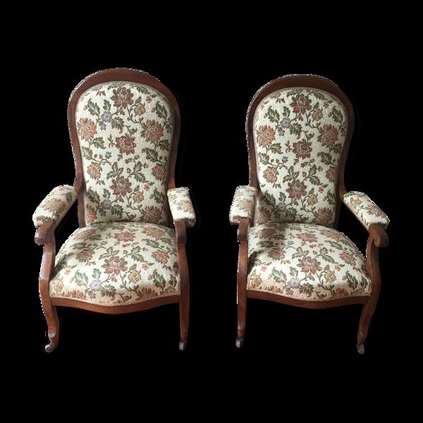 Selency Lot de 2 fauteuils voltaire