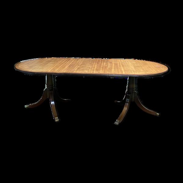 Table anglaise en acajou des années 1950 avec une allonge