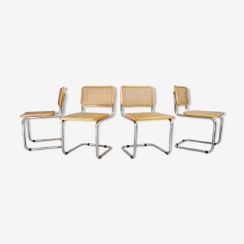 Série de 4 chaises Breuer B32, édition italienne