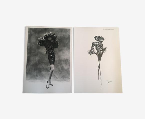 Illustration vintage de mode Pierre Balmain & photographie