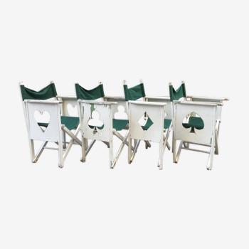 Quatre fauteuils de jardin pliants