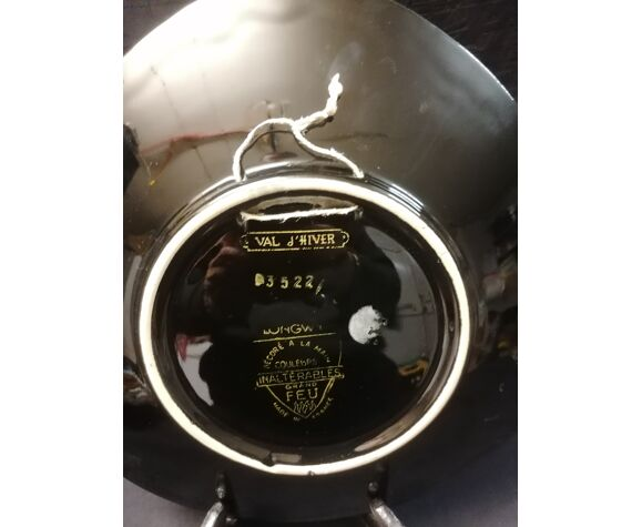 Assiettes faiences vintage x 3 émaux de Longwy Cerfs - Années 60