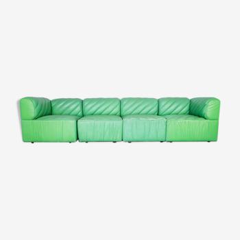 Canapé modulable en cuir années 70 vintage vintage modern antique