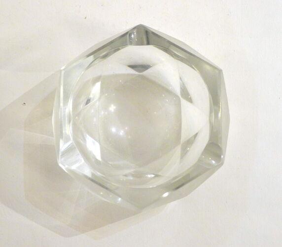 Cendrier cristallin à facettes