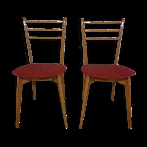 Paire de chaises vintage design