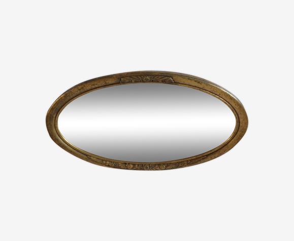 Miroir ancien en bois doré 1930 - 79x46cm