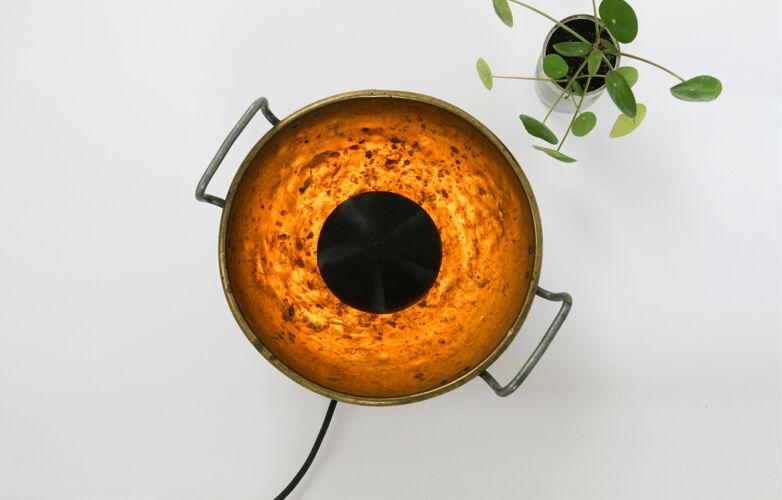 Lampe de table d'oeil en laiton