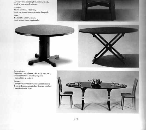 Salle à manger italienne d'Osvaldo Borsani & Eugenio Gerli éditée par Tecno