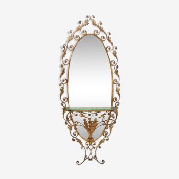 Console table par Pierluigi Colli avec miroir