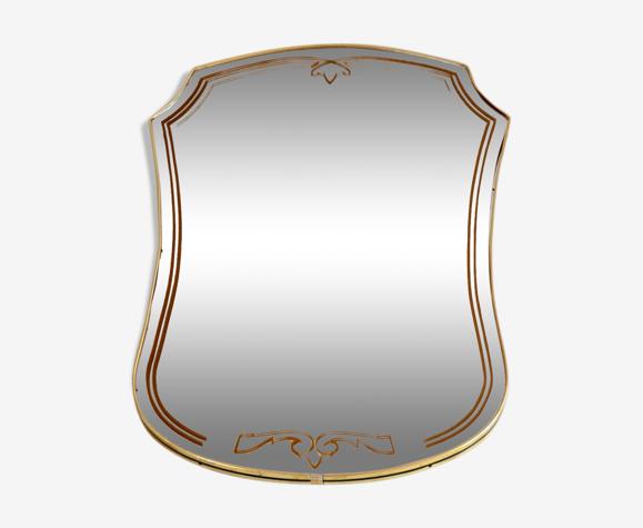 Miroir contour laiton vintage 45x66cm