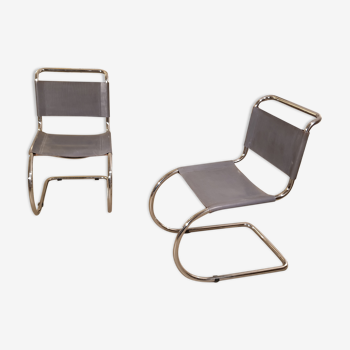 Pair of MR10 Chairs by Ludwig Mies van der Rohe