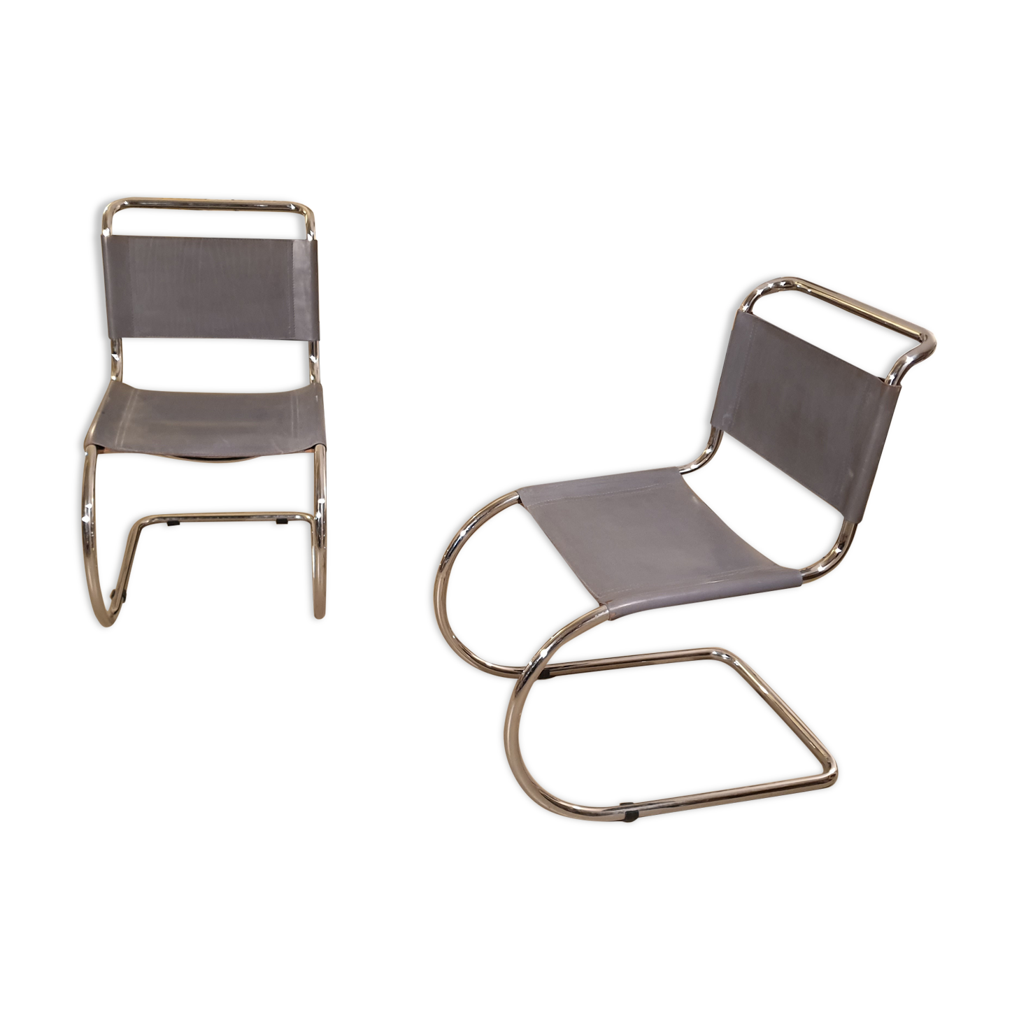 Paire de chaises MR10 par Ludwig Mies van der Rohe