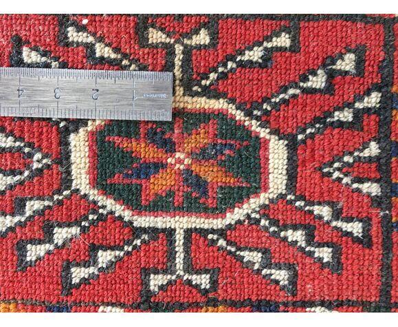 Tapis ancien noué Bouchara 130 X 97 cm