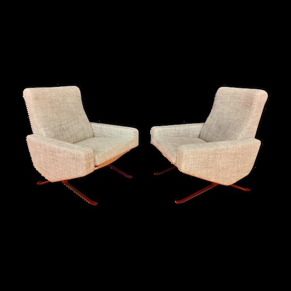 Paire de fauteuils de Paul Geoffroy