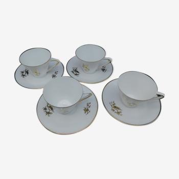 4 tasses à café, Winterling, Lucien Engel
