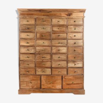 35 drawer wooden cabinet
