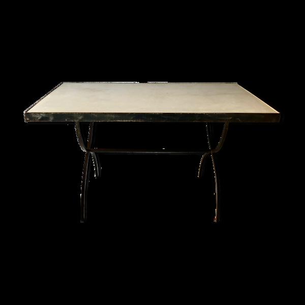 Selency Table en fer forgé et ciment