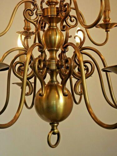 Lustre à effet bronze flamand flamand 2 niveaux