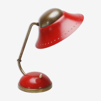Lampe Cocotte en laiton avec rotule des années 50