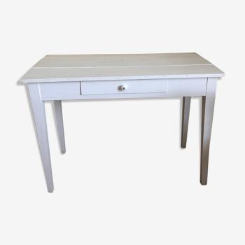 Table de salle à manger vintage blanche