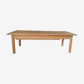 Rande table de ferme en chêne