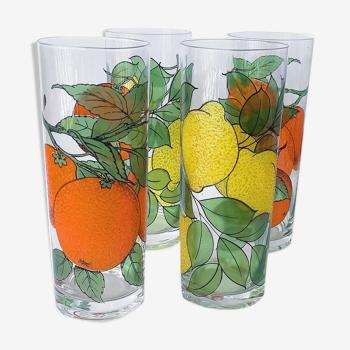 Verres à orangeade en cristal