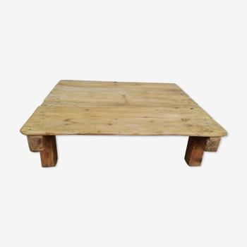 Table basse carrée en bois Tchécoslovaquie années 70