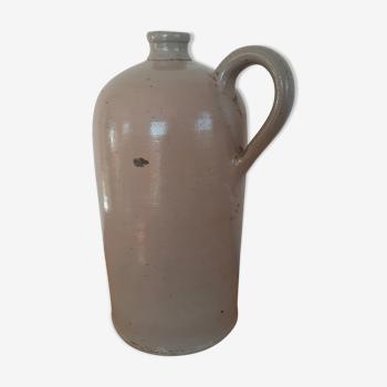 Large old sandstone bottle with handle