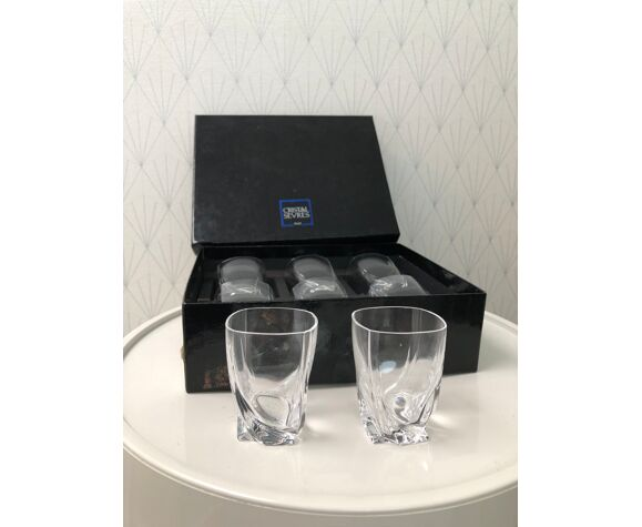Service de 8 verres à digestif en cristal - Cristallerie de Sèvres France