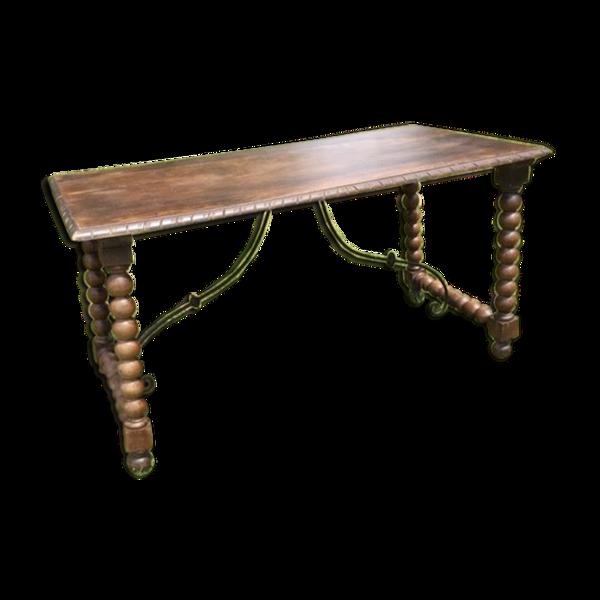 Table antique en chêne basque