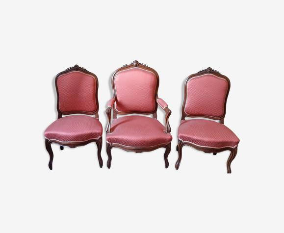 Ensemble fauteuil et chaises Louis XV