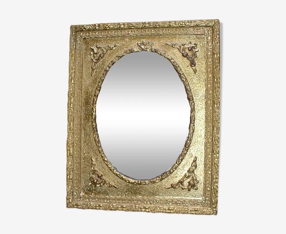 Glace napoléon trois miroir ovale récent