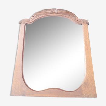 Miroir art deco en bois 88 x69 cm