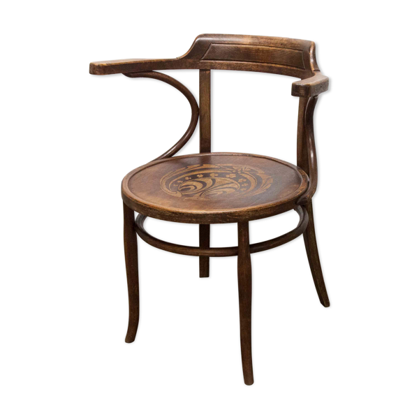 Chaise de bureau Baumann 1914 bois courbé