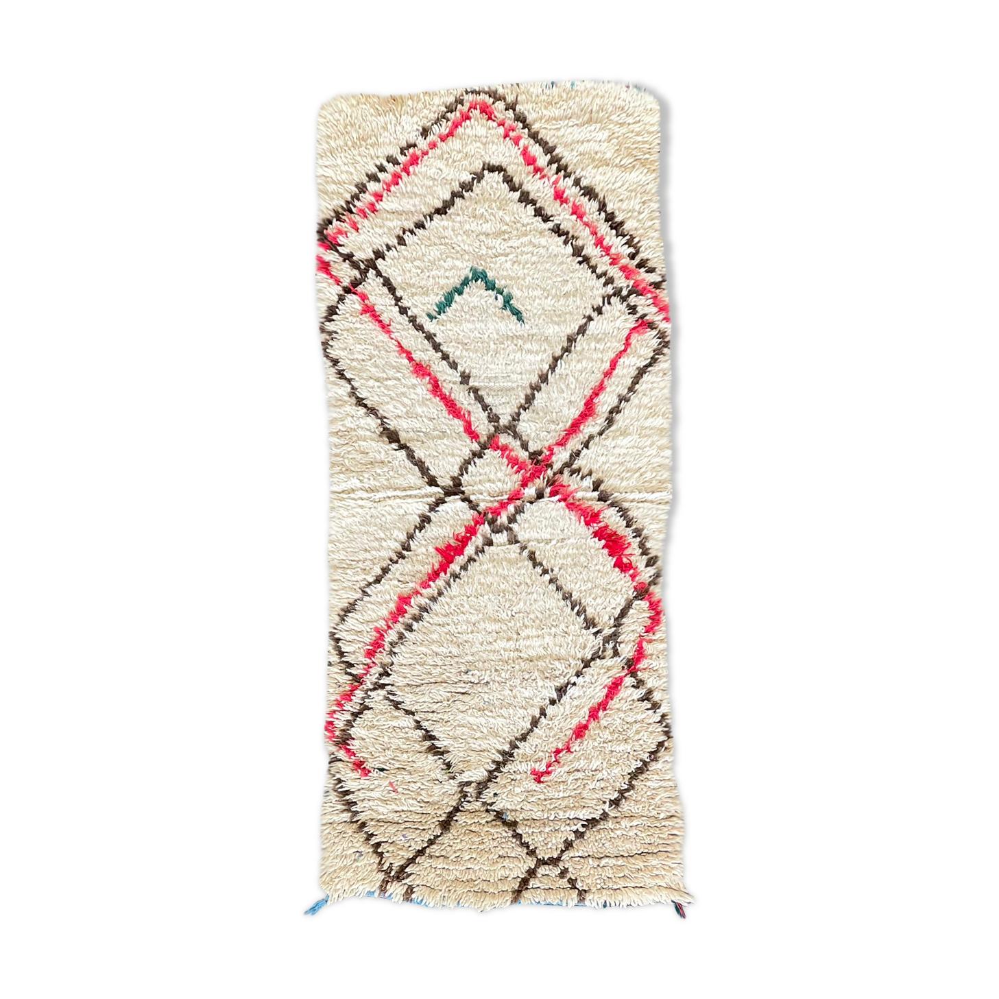 Tapis berbere Beni Ouarain vintage 75x175 cm