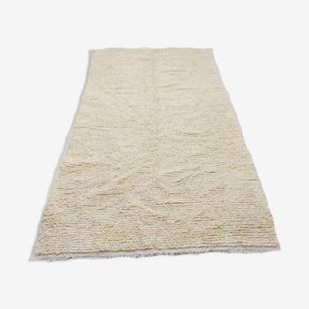 Tapis berbère blanc 100 % laine 250 x 143 cm
