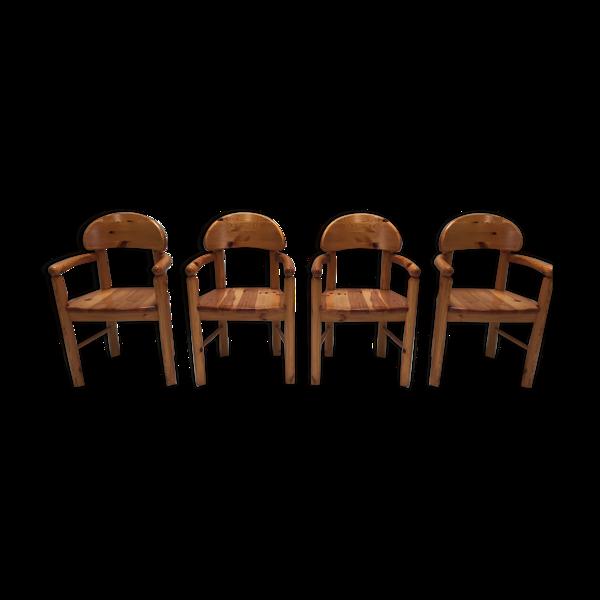 Lot de 4 fauteuils par Rainer Daumiller pour Hirtshals Savvaerk 1980