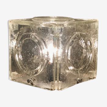 Cube lumineux Albano Poli pour Poliarte, Italie 1968