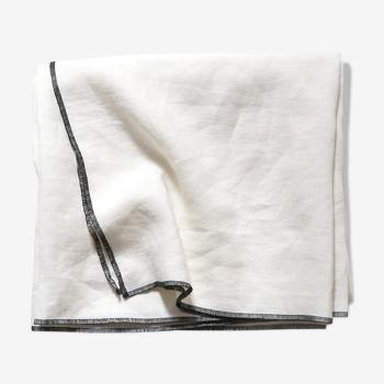 White linen tablecloth