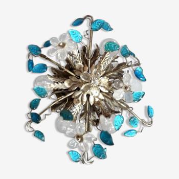 Plafoniere bleikristall plafonnier applique BANCI  Italy Hollywood Fleurs bagues