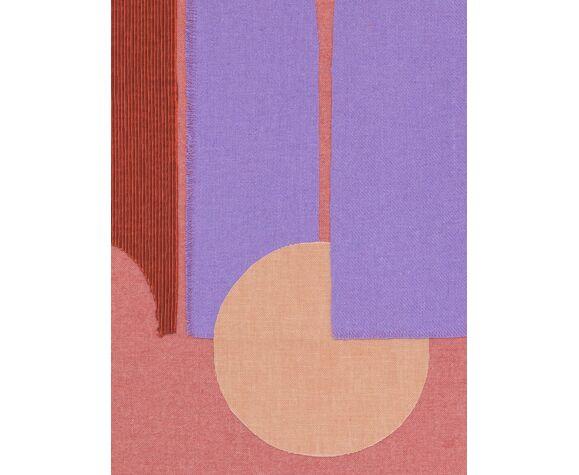 La terrasse rose, collage