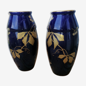 Paire de vase bleu France